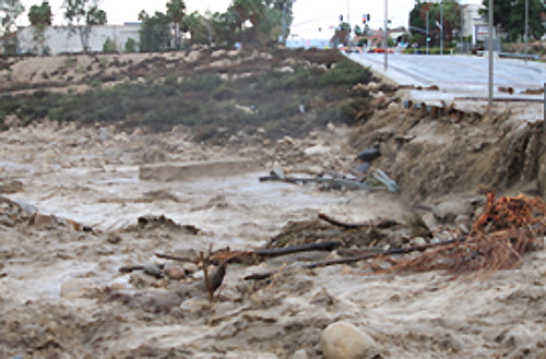 ABC7 viewer Cody Deasey sent in this photo of flooding and damage from the storms in Highland, Calif., on Wednesday, Dec. 22, 2010.  When You Witness breaking news, or even something extraordinary, send pictures and video to video@myabc7.com, or send them to @abc7 on Twitter <span class=meta>(ABC7 viewer Cody Deasey)</span>