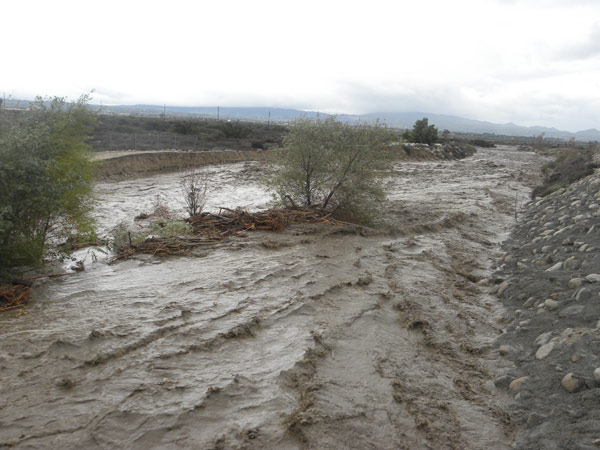 ABC7 viewer Carmen Salazar sent in this photo of flooding in Highland on Wednesday, Dec. 22, 2010.  When You Witness breaking news, or even something extraordinary, send pictures and video to video@myabc7.com, or send them to @abc7 on Twitter <span class=meta>(ABC7 viewer Carmen Salazar)</span>