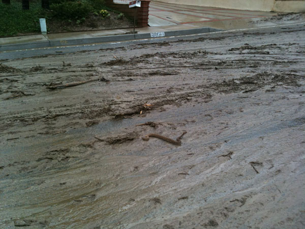 ABC7 viewer Debbie Hanna sent in this photo of flooding and mud in Loma Linda on Wednesday, Dec. 22, 2010.  When You Witness breaking news, or even something extraordinary, send pictures and video to video@myabc7.com, or send them to @abc7 on Twitter <span class=meta>(ABC7 viewer Debbie Hanna)</span>