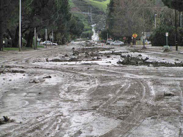 ABC7 viewer Alyssa Moreno sent in this photo of damage from mudslides in Loma Linda on Wednesday, Dec. 22, 2010.  Mud flowed from the Loma Linda South Hills Reserve into the streets below.  When You Witness breaking news, or even something extraordinary, send pictures and video to video@myabc7.com, or send them to @abc7 on Twitter <span class=meta>(ABC7 viewer Alyssa Moreno)</span>