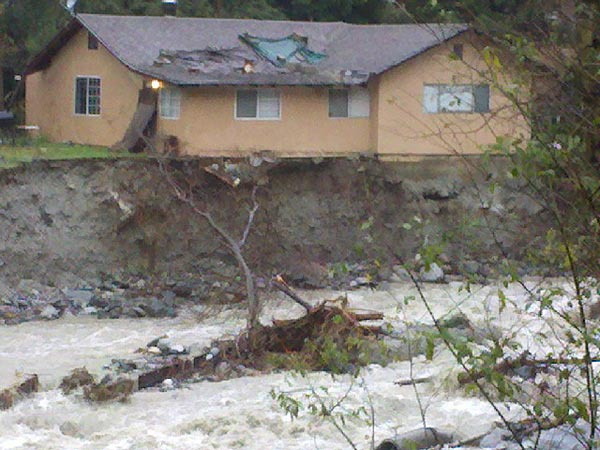 ABC7 viewer Christine Leon sent in this photo of a home in Bonita Ranch damaged in the storm on Wednesday, Dec. 22, 2010.   When You Witness breaking news, or even something extraordinary, send pictures and video to video@myabc7.com, or send them to @abc7 on Twitter <span class=meta>(ABC7 viewer Christine Leon of Lytle Creek)</span>