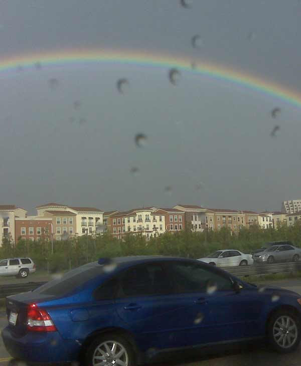 ABC7 viewer Matt Meseke sent in this photo of a rainbow on Wednesday, Dec. 22, 2010.  When You Witness breaking news, or even something extraordinary, send pictures and video to video@myabc7.com, or send them to @abc7 on Twitter <span class=meta>(ABC7 viewer Matt Meseke)</span>