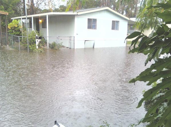 An ABC7 viewer sent in this photo of flooding at a mobile home park on Wednesday, Dec. 22, 2010.   When You Witness breaking news, or even something extraordinary, send pictures and video to video@myabc7.com, or send them to @abc7 on Twitter <span class=meta>(ABC7 viewer)</span>