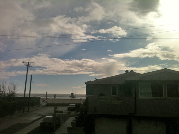 ABC7 viewer Bryan Redfern sent in this photo of the sun peeking through the clouds off the coast of Newport Beach on Wednesday, Dec. 22, 2010.   When You Witness breaking news, or even something extraordinary, send pictures and video to video@myabc7.com, or send them to @abc7 on Twitter <span class=meta>(ABC7 viewer Bryan Redfern)</span>