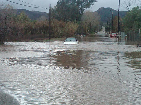 An ABC7 viewer sent in this photo of flooding in Perris, Calif., on Wednesday, Dec. 22, 2010.  When You Witness breaking news, or even something extraordinary, send pictures and video to video@myabc7.com, or send them to @abc7 on Twitter <span class=meta>(ABC7 viewer)</span>