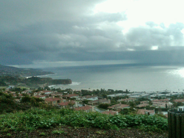 ABC7 viewer Jasson Walke sent in this photo of storm clouds off the coast of Rancho Palos Verdes on Wednesday, Dec. 22, 2010.  When You Witness breaking news, or even something extraordinary, send pictures and video to video@myabc7.com, or send them to @abc7 on Twitter <span class=meta>(ABC7 viewer Jasson Walke)</span>