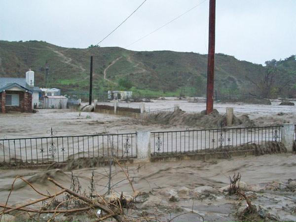 ABC7 viewer John Adams sent in this photo of flooding in a neighborhood in Reche Canyon, Colton, on Wednesday, Dec. 22, 2010.  When You Witness breaking news, or even something extraordinary, send pictures and video to video@myabc7.com, or send them to @abc7 on Twitter <span class=meta>(ABC7 viewer John Adams)</span>