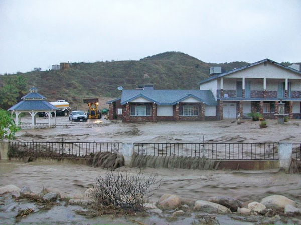 ABC7 viewer Linda Doubek sent in this photo of flooding in a neighborhood in Reche Canyon, Colton, on Wednesday, Dec. 22, 2010.  When You Witness breaking news, or even something extraordinary, send pictures and video to video@myabc7.com, or send them to @abc7 on Twitter <span class=meta>(ABC7 viewer Linda Doubek)</span>