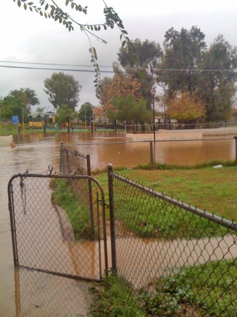 ABC7 viewer Ismael sent in this photo of flooding at 14th Street in Riverside on Wednesday, Dec. 22, 2010.  When You Witness breaking news, or even something extraordinary, send pictures and video to video@myabc7.com, or send them to @abc7 on Twitter <span class=meta>(ABC7 viewer Ismael)</span>