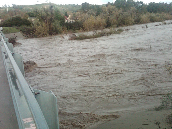 ABC7 viewer Angelica Valdivia sent in this photo of San Juan Creek Bridge at La Novia in San Juan Capistrano on Wednesday, Dec. 22, 2010.   When You Witness breaking news, or even something extraordinary, send pictures and video to video@myabc7.com, or send them to @abc7 on Twitter <span class=meta>(ABC7 viewer Angelica Valdivia)</span>