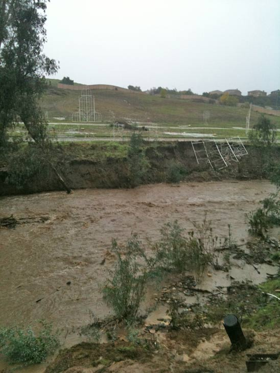 ABC7 viewer T. Scharfe sent in this photo of the river next to Tom&#39;s Farms in Corona on Wednesday, Dec. 22, 2010.  When You Witness breaking news, or even something extraordinary, send pictures and video to video@myabc7.com, or send them to @abc7 on Twitter <span class=meta>(ABC7 viewer T. Scharfe)</span>