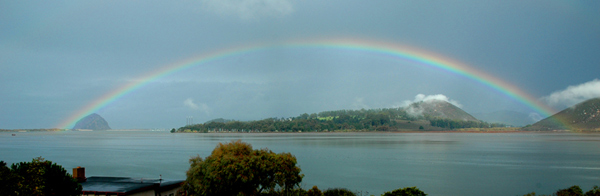 ABC7 viewer Mark Arnold  of Los Osos sent in a photo of a rainbow over Morro Bay on Wednesday, Dec. 22, 2010.  When You Witness breaking news, or even something extraordinary, send pictures and video to video@myabc7.com, or send them to @abc7 on Twitter <span class=meta>(ABC7 viewer Mark Arnold)</span>