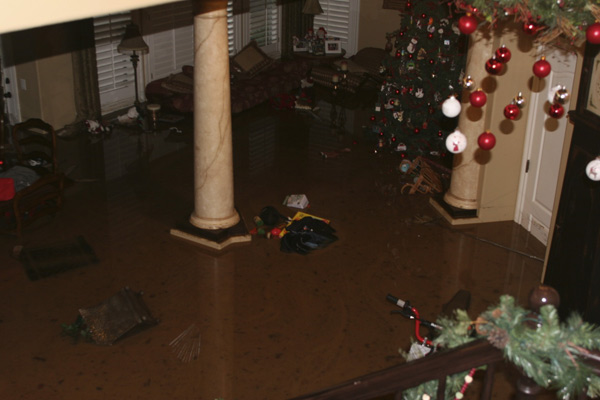 ABC7 viewer Kyle Conway  sent in a photo of his house flooded with six feet of water and mud in Dove Canyon on Wednesday, Dec. 22, 2010.  When You Witness breaking news, or even something extraordinary, send pictures and video to video@myabc7.com, or send them to @abc7 on Twitter <span class=meta>(ABC7 viewer Kyle Conway)</span>