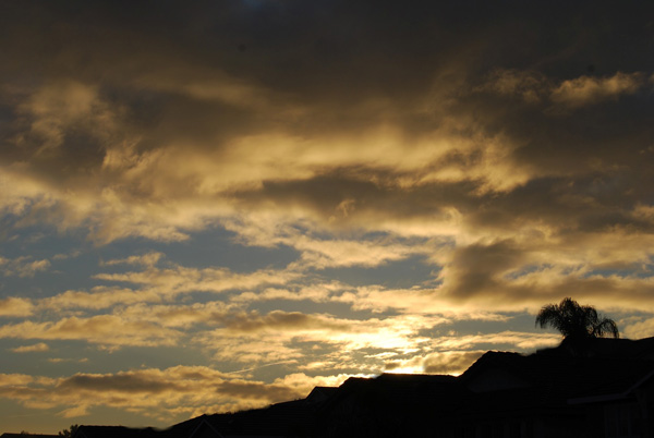 ABC7 viewer Holly Royston of Chino Hills  sent in a photo of the sunrise after the storm on Thursday, Dec. 23, 2010.