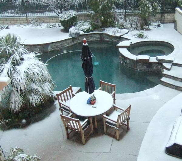ABC7 viewer Holly Carter sent in this photo of a snow in Stevenson Ranch, Calif. on Sunday Jan. 2, 2011.  When You Witness breaking news, or even something extraordinary, send pictures and video to video@myabc7.com, or send them to @abc7 on Twitter <span class=meta>(ABC7 viewer Holly Carter)</span>