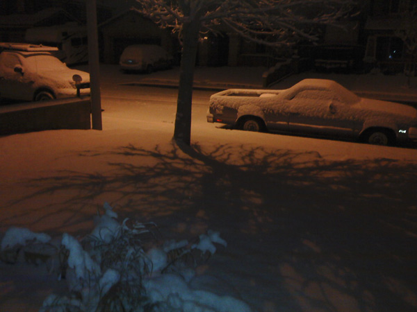 An ABC7 viewer sent in this photo of cars covered in snow in El Camino, Calif. on Monday Jan. 3, 2011.  When You Witness breaking news, or even something extraordinary, send pictures and video to video@myabc7.com, or send them to @abc7 on Twitter <span class=meta>(ABC7 viewer)</span>