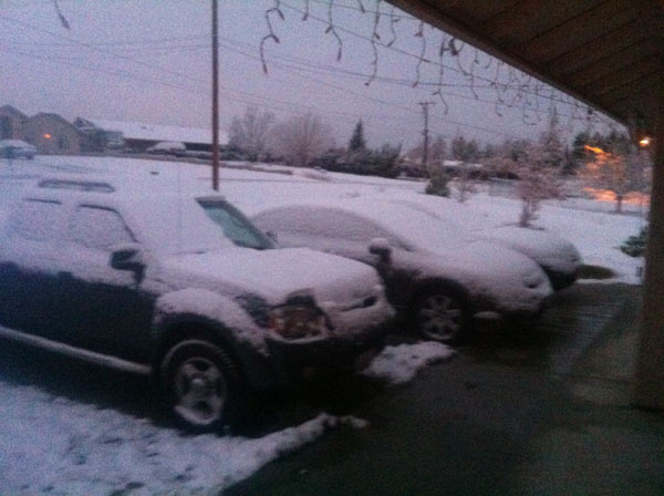 ABC7 viewer Alejandro Estrada sent in this photo of snow in Hesperia, Calif. on Monday Jan. 3, 2011.  When You Witness breaking news, or even something extraordinary, send pictures and video to video@myabc7.com, or send them to @abc7 on Twitter <span class=meta>(ABC7 viewer Alejandro Estrada)</span>