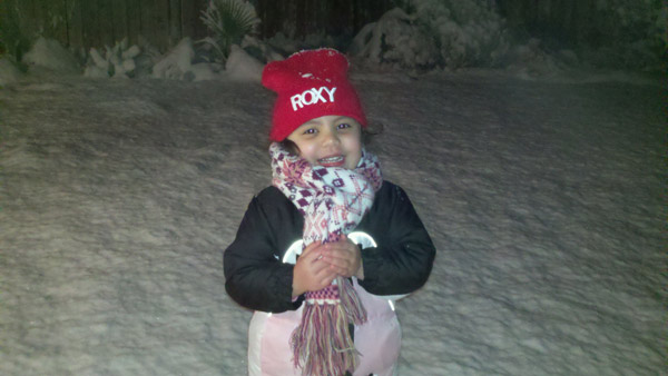 An ABC7 viewer sent in this photo of a little girl standing in the snow on Monday Jan. 3, 2011.  When You Witness breaking news, or even something extraordinary, send pictures and video to video@myabc7.com, or send them to @abc7 on Twitter <span class=meta>(ABC7 viewer)</span>