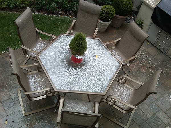 ABC7 viewer Christine Zenjiryan sent in this photo of hail in Bel Air, Calif. on Saturday Feb. 26, 2011.  When You Witness breaking news, or even something extraordinary, send pictures and video to video@myabc7.com, or send them to @abc7 on Twitter  <span class=meta>(KABC photo&#47; Christine Zenjiryan)</span>
