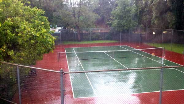 ABC7 viewer Ken R. of Granada Hills sent in this photo of heavy rain coming down on a tennis court on Sunday March 20, 2011.  When You Witness breaking news, or even something extraordinary, send pictures and video to video@myabc7.com, or send them to @abc7 on Twitter <span class=meta>(KABC photo&#47; Ken R.)</span>