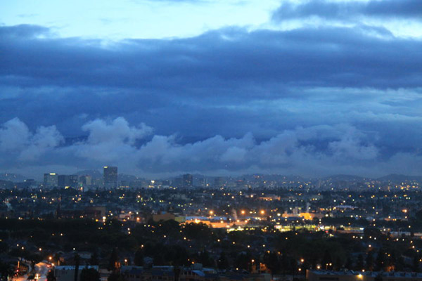 ABC7 viewer Willie Jordan sent in this photo of storm clouds in Los Angeles, taken from Baldwin Hills on Monday March 21, 2011.  When You Witness breaking news, or even something extraordinary, send pictures and video to video@myabc7.com, or send them to @abc7 on Twitter  <span class=meta>(KABC photo&#47; Willie Jordan)</span>
