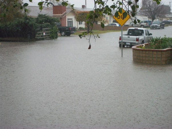 ABC7 viewer Raeanne Casey of Santa Paula, Calif. sent in this photo of a flooded street on Sunday March 20, 2011.  When You Witness breaking news, or even something extraordinary, send pictures and video to video@myabc7.com, or send them to @abc7 on Twitter  <span class=meta>(KABC photo&#47; Raeanne Casey)</span>