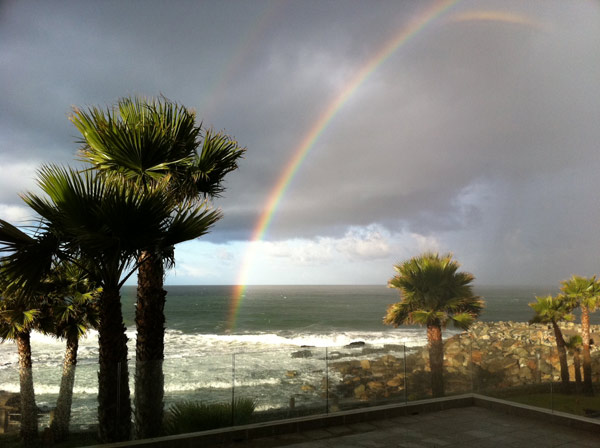 ABC7 viewer Joseph Gorman sent in this photo of a rainbow on Monday, March 21, 2011. &#160;When you witness breaking news happen, send your photos to video@myabc7.com, or send them to @abc7 on Twitter <span class=meta>(ABC7 viewer Joseph Gorman)</span>