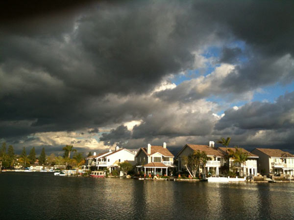 ABC7 viewer Ken Darby sent in this photo of storm clouds over East Lake in Yorba Linda, Calif. on Monday, March 21, 2011. &#160;When you witness breaking news happen, send your photos to video@myabc7.com, or send them to @abc7 on Twitter <span class=meta>(ABC7 viewer Ken Darby)</span>