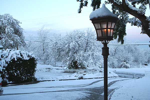 ABC7 viewer Diane Sweitzer sent in this photo of snow Yucaipa, Calif. on Saturday April 9, 2011.
