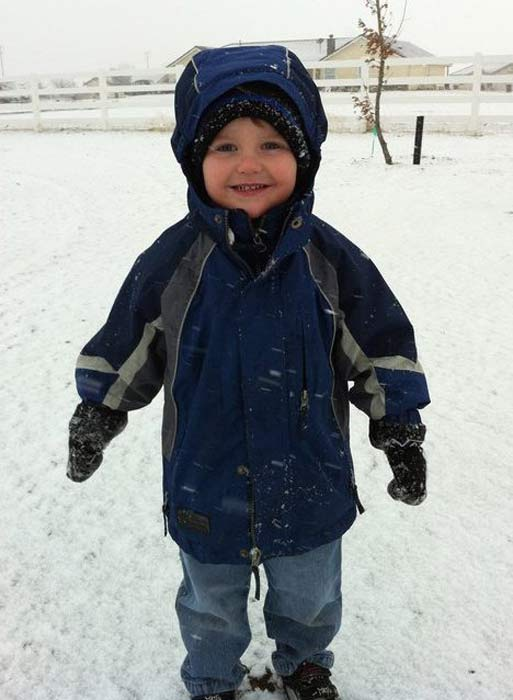 ABC7 viewer Jody Talbot sent in this photo of a child playing in snow in Lancaster, Calif. on Sunday Nov. 6, 2011.  When You Witness breaking news, or even something extraordinary, send pictures and video to video@myabc7.com, or send them to @abc7 on Twitter <span class=meta>(KABC photo &#47; Jody Talbot)</span>