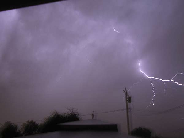 ABC7 viewer Kim Killackey sent in this photo of lightning in Covina on Sunday Nov. 6, 2011.  When You Witness breaking news, or even something extraordinary, send pictures and video to video@myabc7.com, or send them to @abc7 on Twitter  <span class=meta>(KABC photo &#47; Kim Killackey)</span>