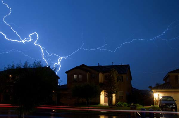 ABC7 viewer Ron Kroetz sent in this photo of lightning in Mentone on Sunday Nov. 6, 2011.  When You Witness breaking news, or even something extraordinary, send pictures and video to video@myabc7.com, or send them to @abc7 on Twitter  <span class=meta>(KABC photo &#47; Ron Kroetz)</span>