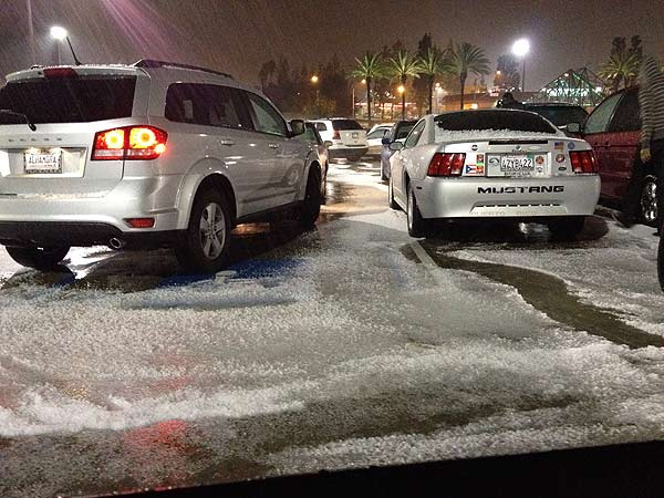 An ABC7 viewer sent in this photo of hail in...