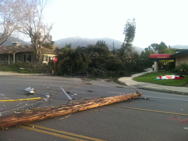 "<div class=""meta ""><span class=""caption-text "">A power line fell onto a street in Arcadia, Calif., on Thursday, Dec. 1, 2011. (KABC Photo)</span></div>"