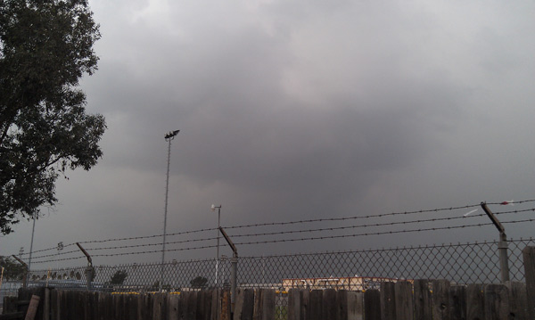 An ABC7 viewer took this photo of dark clouds in Fontana on Thursday, Dec. 15, 2011. &#160;When you witness breaking news happen, send your photos to video@myabc7.com, or send them to @abc7 on Twitter <span class=meta>(KABC Photo&#47; ABC7 viewer Mark Kosakura)</span>