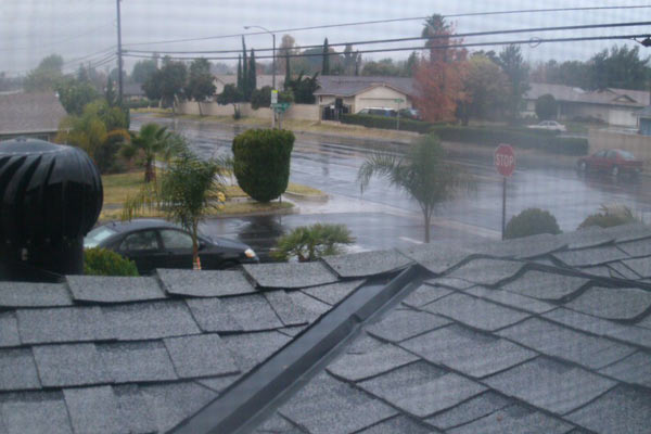 ABC7 viewer Valerie Saenz posted this photo to the ABC7 Facebook wall of heavy rain in Ontario on Thursday, Dec. 15, 2011. &#160;When you witness breaking news happen, send your photos to video@myabc7.com, or post them to the ABC7 Weather Facebook page <span class=meta>(KABC Photo&#47; ABC7 viewer Valerie Saenz)</span>