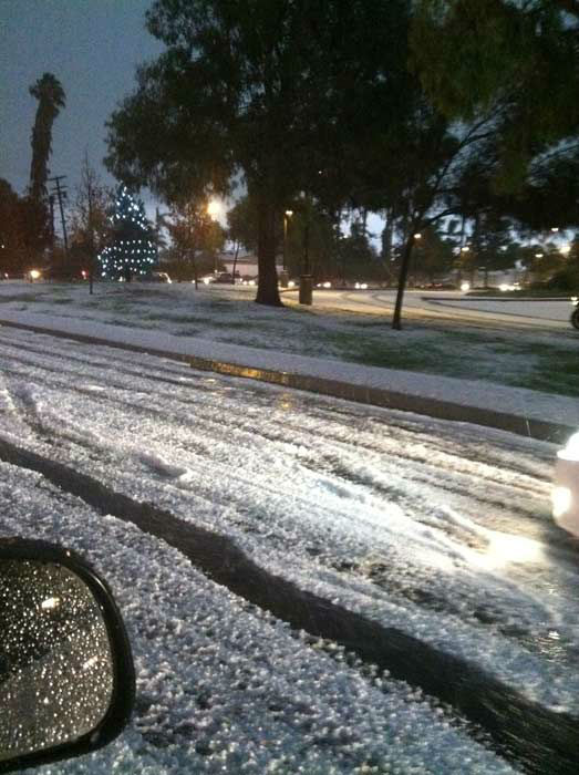 An ABC7 viewer took this photo of the wild weather in Long Beach, Calif., on Thursday, Dec. 15, 2011.