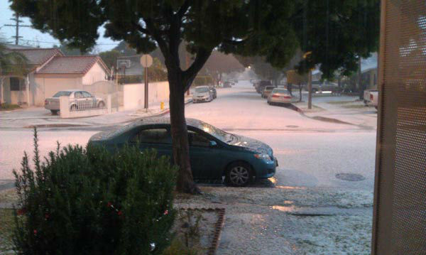 ABC7 viewer Marvin Pena took this photo of the wild weather in Paramount, Calif., on Thursday, Dec. 15, 2011.