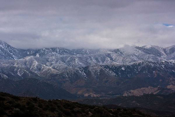 ABC7 viewer Robert Royer took this photo of snow in the Cajon Pass on Thursday, Dec. 15, 2011. When you witness breaking news happen, send your photos to video@myabc7.com, or send them to @abc7 on Twitter <span class=meta>(KABC Photo&#47; ABC7 viewer Robert Royer)</span>