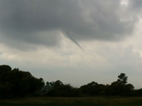 ABC7 viewer Jon Dean took this photo of a water spout in Newport Beach, Calif., on Thursday, Dec. 15, 2011. When you witness breaking news happen, send your photos to video@myabc7.com, or send them to @abc7 on Twitter <span class=meta>(KABC Photo&#47; ABC7 viewer Jon Dean)</span>