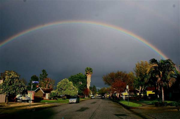 ABC7 viewer Richie Gaona of Northridge sent in this photo of a rainbow after a storm passed over Southern California on Saturday March, 17, 2012.  When You Witness breaking news, or even something extraordinary, send pictures and video to video@myabc7.com, or send them to @abc7 on Twitter or our ABC7 Facebook page. <span class=meta>(ABC7 viewer Richie Gaona)</span>