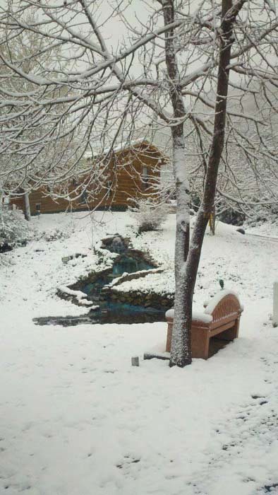 ABC7 viewer Lynda Van Kirk Perdew posted this photo on the ABC7 Facebook page of snow in Lytle Creek after a storm passed over Southern California on Sunday March, 18, 2012.