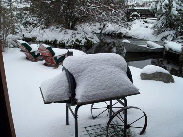 ABC7 viewer Markus Schmidt posted this photo on the ABC7 Facebook page of snow in Stallion Springs after a storm passed over Southern California on Sunday March, 18, 2012.