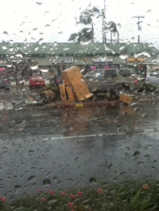 "<div class=""meta ""><span class=""caption-text "">ABC7 viewer Jack Castillo posted this photo on the ABC7 Facebook page of an SUV that jumped the curb at an intersection in Artesia  as a powerful storm passed over Southern California on Sunday March, 25, 2012.   When You Witness breaking news, or even something extraordinary, send pictures and video to video@myabc7.com, or send them to @abc7 on Twitter or our ABC7 Facebook page.  (ABC7 viewer Jack Castillo)</span></div>"