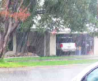 An ABC7 viewer sent in this photo of heavy downpour followed by thunder and lightening in Rancho Cucamonga on Friday, April 13, 2012.