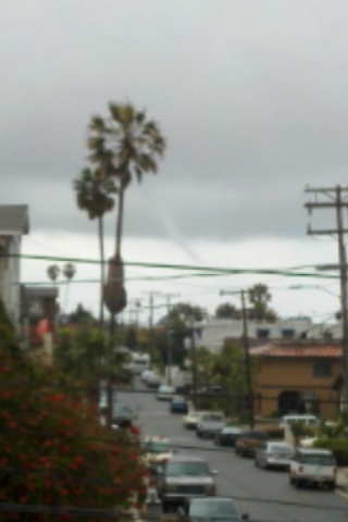 ABC7 viewer Charise Payne sent in this photo of waterspout in San Clemente, Calif., on Friday, April 13, 2012. &#160;When You Witness breaking news, or even something extraordinary, send pictures and video to video@abc7.com, or post them to the ABC7 Facebook page or to @abc7 on Twitter  <span class=meta>(ABC7 viewer Charise Payne)</span>