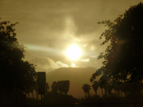 ABC7 viewer Allen Hansen sent in this photo of a sunset after the storm cleared in Riverside on Friday, April 13, 2012. &#160;When You Witness breaking news, or even something extraordinary, send pictures and video to video@abc7.com, or post them to the ABC7 Facebook page or to @abc7 on Twitter  <span class=meta>(ABC Viewer Allen Hansen)</span>