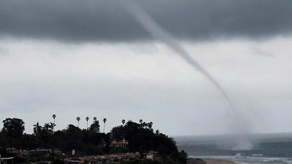 ABC7 viewer Jennifer Berg sent in this photo of a water spout off the coast in San Clemente on Friday, April 13, 2012. &#160;When You Witness breaking news, or even something extraordinary, send pictures and video to video@abc7.com, or post them to the ABC7 Facebook page or to @abc7 on Twitter  <span class=meta>(ABC Viewer Jennifer Berg)</span>