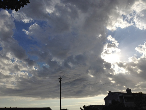 An ABC7 viewer sent in this photo of clouds over Torrance on Thursday, August 30, 2012.  &#160;When You Witness breaking news, or even something extraordinary, send pictures and video to video@abc7.com, or post them to the ABC7 Facebook page or to @abc7 on Twitter   <span class=meta>(ABC7)</span>