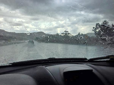 ABC7 viewer msaavedra1026 sent us this photo via Twitter of rain falling on the 118 in Simi Valley on Thursday, Oct. 11, 2012.